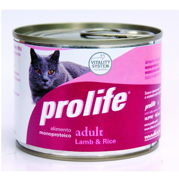 Prolife Hypoallergenic Adult Cat 12 Lattine da 200 gr Foto