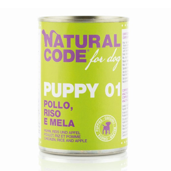 NaturalCode Puppy 6 lattine da 400 gr Foto