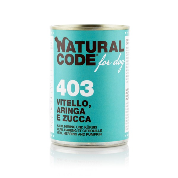 NaturalCode Adult Dog 6 lattine da 400 gr Foto