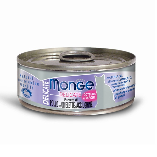 Monge Delicate Adult Cat 24 Lattine da 80 gr Foto