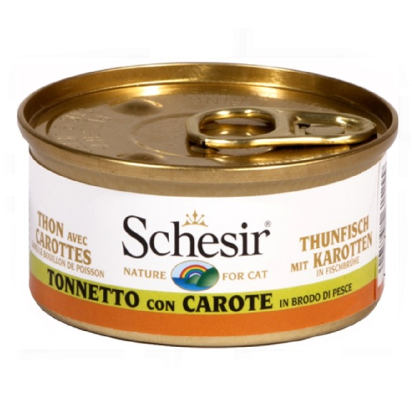 Schesir  Adult Cat in Brodo 6 Lattine da 70 gr Foto