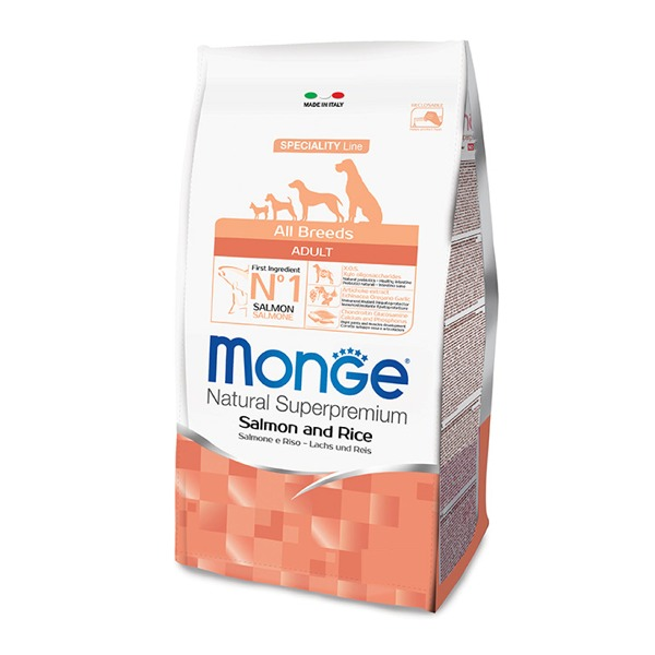 Monge Adult All Breeds Salmone e Riso - Foto