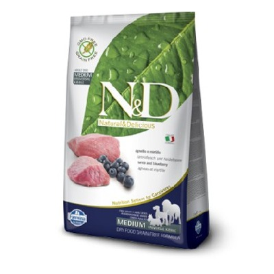 Farmina N&D Grain Free Adult Agnello e Mirtillo Medium  - Foto