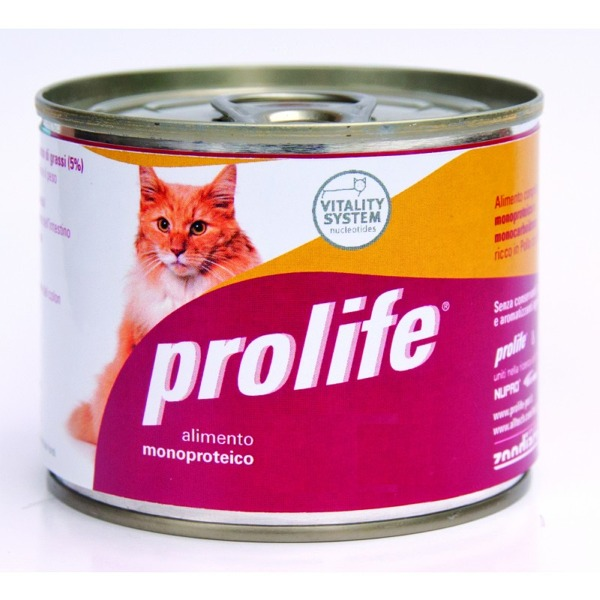 Prolife Hypoallergenic Adult Cat 12 Lattine da 200 gr - Foto