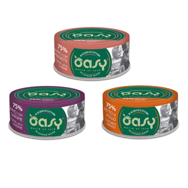 Oasy More Love per gatti 6 lattine da 70 gr - Foto