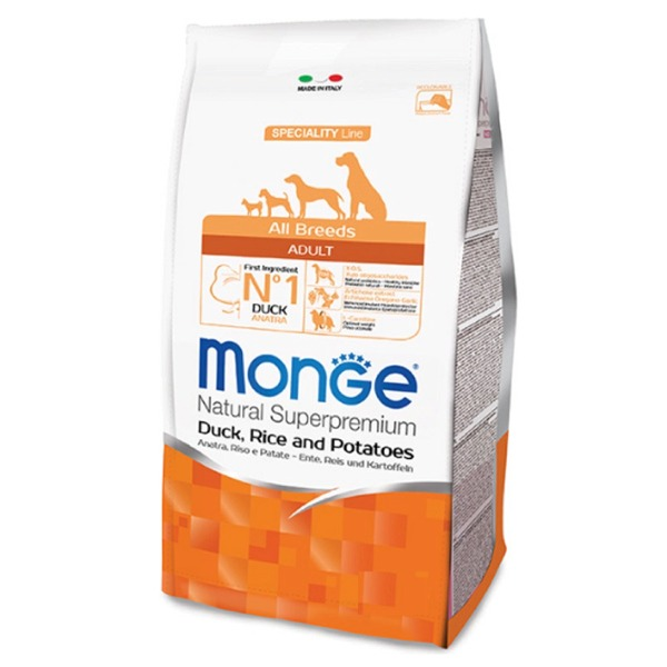 Monge Adult All Breeds con Anatra, riso e patate - Foto