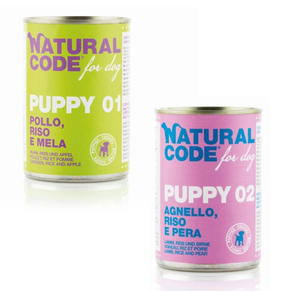 NaturalCode Puppy 6 lattine da 400 gr - Foto
