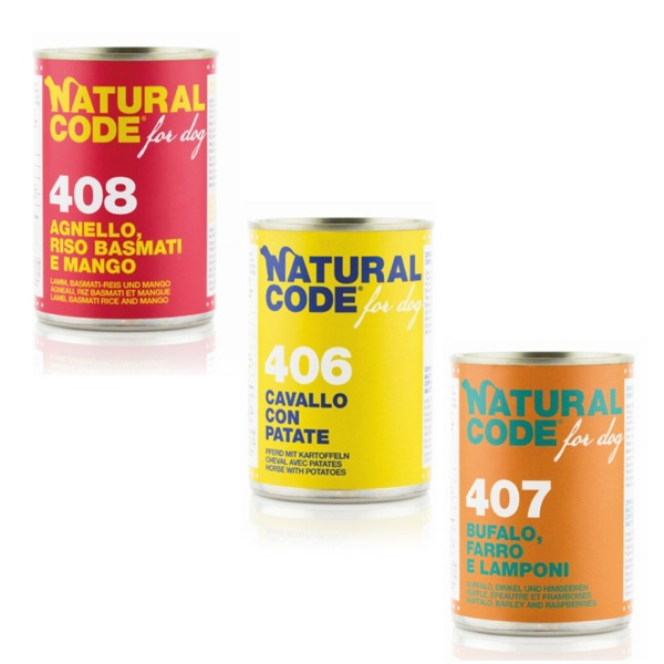 NaturalCode Adult Dog 6 lattine da 400 gr - Foto